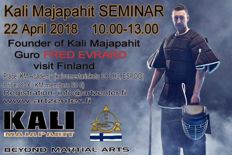 Founder of Kali Majapahit, Guro FRED EVRARD in Finland 22.4.2018