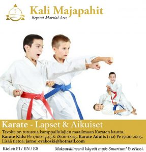 KARATE KIDS & ADULTS : New classes !