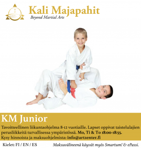 KM KIDS JUNIOR: peaceful Warriors from 8 to 12 years old